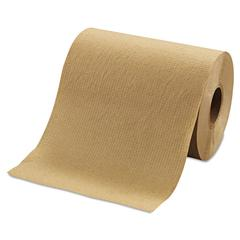 "Hardwound Roll Towels, 8"" x 350ft, Brown, 12 Rolls/Carton"
