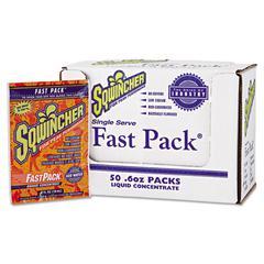 Fast Pack Drink Package, Orange, .6oz Packet, 200/Carton