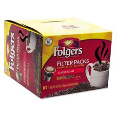Folgers Coffee Filter Packs, Classic Roast, 60/Carton