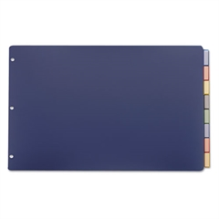Cardinal Poly Insertable Dividers, 8-Tab, 11 x 17, Multicolor Tabs