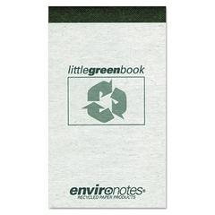Roaring Spring Little Green Book, Gray Cover, Narrow Rule, 3 x 5, White Paper, 60 Sheets