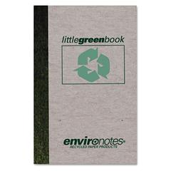 Little Green Book, Gray Cover, Narrow Rule, 6 x 4, White Paper, 60 Sheets