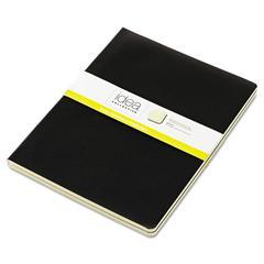 Idea Collective Journal, Soft Cover, Side, 10 x 7 1/2, Black, 48 Sheets, 2/PK