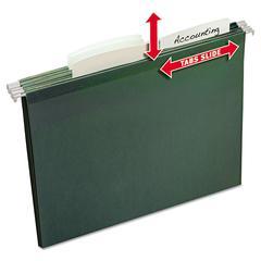 Avery Slide & Lift Tab Hanging File Folders, Letter, 1/3 Cut, Green, 24/Pack