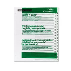 Table 'n Tabs Dividers, 31-Tab, Letter