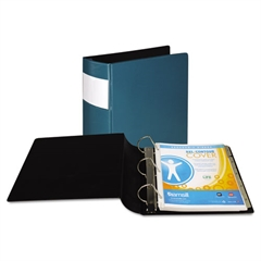 "DXL Heavy-Duty Locking D-Ring Binder With Label Holder, 3"" Cap, Teal"