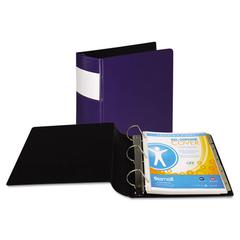 "DXL Heavy-Duty Locking D-Ring Binder With Label Holder, 3"" Cap, Dark Blue"