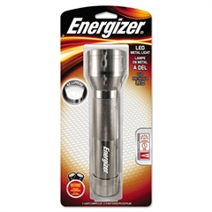 Energizer Metal LED Light, 2 D, Silver