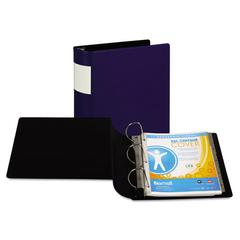 "Samsill DXL Heavy-Duty Locking D-Ring Binder With Label Holder, 4"" Cap, Dark Blue"