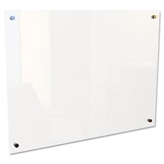"""Best-Rite Enlighten Glass Board, Frameless, Frosted Pearl, 48"""" x 36"""" x 1/8"""""""