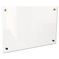 """Best-Rite Enlighten Glass Board, Frameless, Frosted Pearl, 36"""" x 24"""" x 1/8"""""""