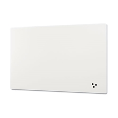 Elemental Frameless Markerboard, Porcelain Steel, White Glossy, 72 x 48 x 1/8