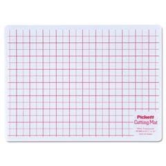 Chartpak Self-Healing Cutting Mat, 8 1/2 x 12, White Translucent W/Red Lines