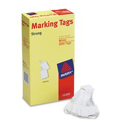 Medium-Weight White Marking Tags, 1 3/32 x 3/4, 1,000/Box