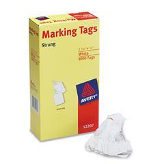 Avery Medium-Weight White Marking Tags, 1 3/32 x 3/4, 1,000/Box