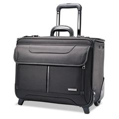 Rolling Catalog Case, 17 1/4 x 7 1/2 x 13, Black