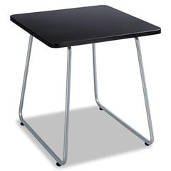 Safco Anywhere End Table, 20w x 20d x 19-1/2h, Black/Silver