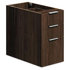 HON Voi Box/Box/File Support Pedestal, 16w x 30d x 28 1/2h, Columbian Walnut