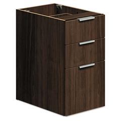 Voi Box/Box/File Support Pedestal, 16w x 20d x 28-1/2h, Columbian Walnut