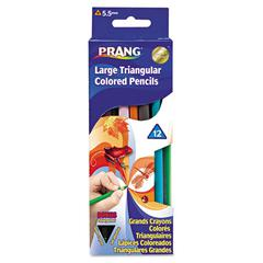 Prang Prang Triangular Colored Woodcase Pencil, 5.5 mm, Assorted, 12/Set