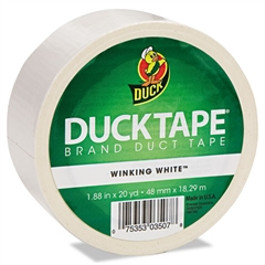 "Duck Colored Duct Tape, 9 mil, 1.88"" x 20 yds, 3"" Core, White"