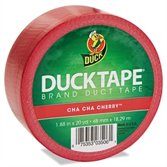 "Duck Colored Duct Tape, 9 mil, 1.88"" x 20 yds, 3"" Core, Red"