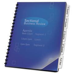 Swingline GBC ZipBind® Prepunched Tabs, 5-Tab, 8 1/2 x 11, White