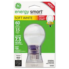 GE Compact Fluorescent Bulb, A19, Soft White