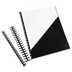 Swingline GBC ZipBind Prepunched Pocket Folder, 8-1/2 x 11, Black, 10 Folders/Pack