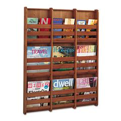 Bamboo Magazine/Pamphlet Wall Display, 29w x 1-3/4d x 37-3/4h, Cherry