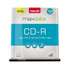 CD-R Discs, 700MB/80min, 48x, Spindle, Silver, 100/Pack