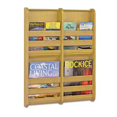 Safco Bamboo Magazine/Pamphlet Wall Display, 19-1/2w x 1-3/4d x 25-1/2h, Natural