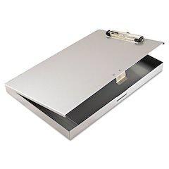 "Tuffwriter Recycled Aluminum Storage Clipboard, 1/2"" Clip, 8 1/2 x 12, Gray"