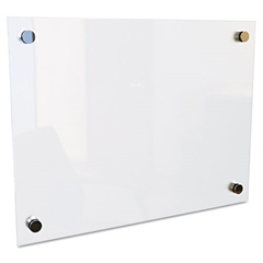 """Best-Rite Enlighten Glass Board, Frameless, Frosted Pearl, 24"""" x 18"""" x 1/8"""""""