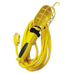 Polar/Solar Incandescent Trouble Light, 100W, 25ft 14/3 AWG Cord, Yellow