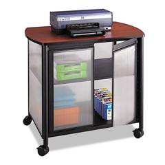 Impromptu Deluxe Machine Stand w/Doors, 34-3/4 x 25-1/2 x 30-3/4, Black/Cherry