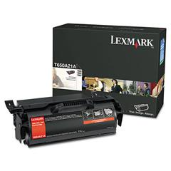 Lexmark T650A21A Toner, 7,000 Page-Yield, Black