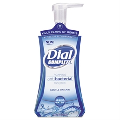 Dial Antibacterial Foaming Hand Wash, Spring Water, 7.5oz, 8/Carton