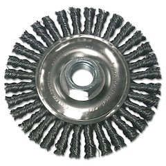 Stringer Bead Wheel Brush, 4in Diameter, Carbon Steel, .02in Wire