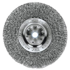 "Trulock TLN-6 Narrow-Face Crimped Wire Wheel, 6"" dia, .014 Wire"