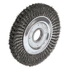 """Dualife Twist-Knot Wire Wheel, 10"""" dia, 1 3/4"""" Trim, .016 Wire, 2"""" Arbor"""