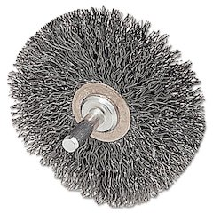 "CFX-2 Stem-Mounted Crimped Wire Wheel, 2"" dia, Stainless Steel, .0118 Wire"