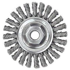 """Dualife Twist-Knot Wire Wheel, 4"""" dia, 7/8"""" Trim .02 Wire, 5/8"""" Arbor"""