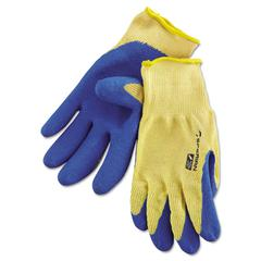 Tuff-Coat II Gloves, Blue/White, Large, Pair