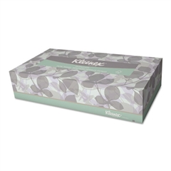 Kleenex Naturals Facial Tissue, 2-Ply, White, 125/Box
