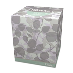 Kleenex Naturals Facial Tissue, 2-Ply, White, 95/Box