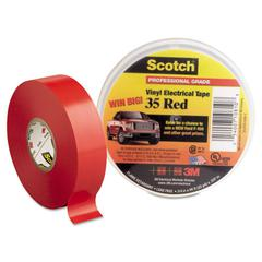 "Scotch 35 Vinyl Electrical Color Coding Tape, 3/4"" x 66ft, Red"