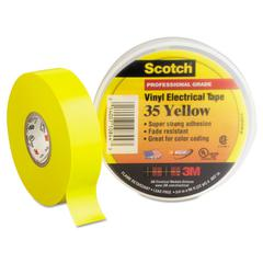 "Scotch 35 Vinyl Electrical Color Coding Tape, 3/4"" x 66ft, Yellow"