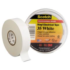 "Scotch 35 Vinyl Electrical Color Coding Tape, 3/4"" x 66ft, White"
