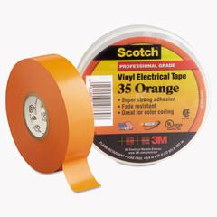 "Scotch 35 Vinyl Electrical Color Coding Tape, 3/4"" x 66ft, Orange"